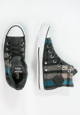 Converse CHUCK TAYLOR ALL STAR WOOLRICH - Sneakers hoog - black/papyrus/cyan  space
