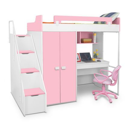 Alex Daisy Boston Bunk Bed In Engineered Wood With Side Drawers