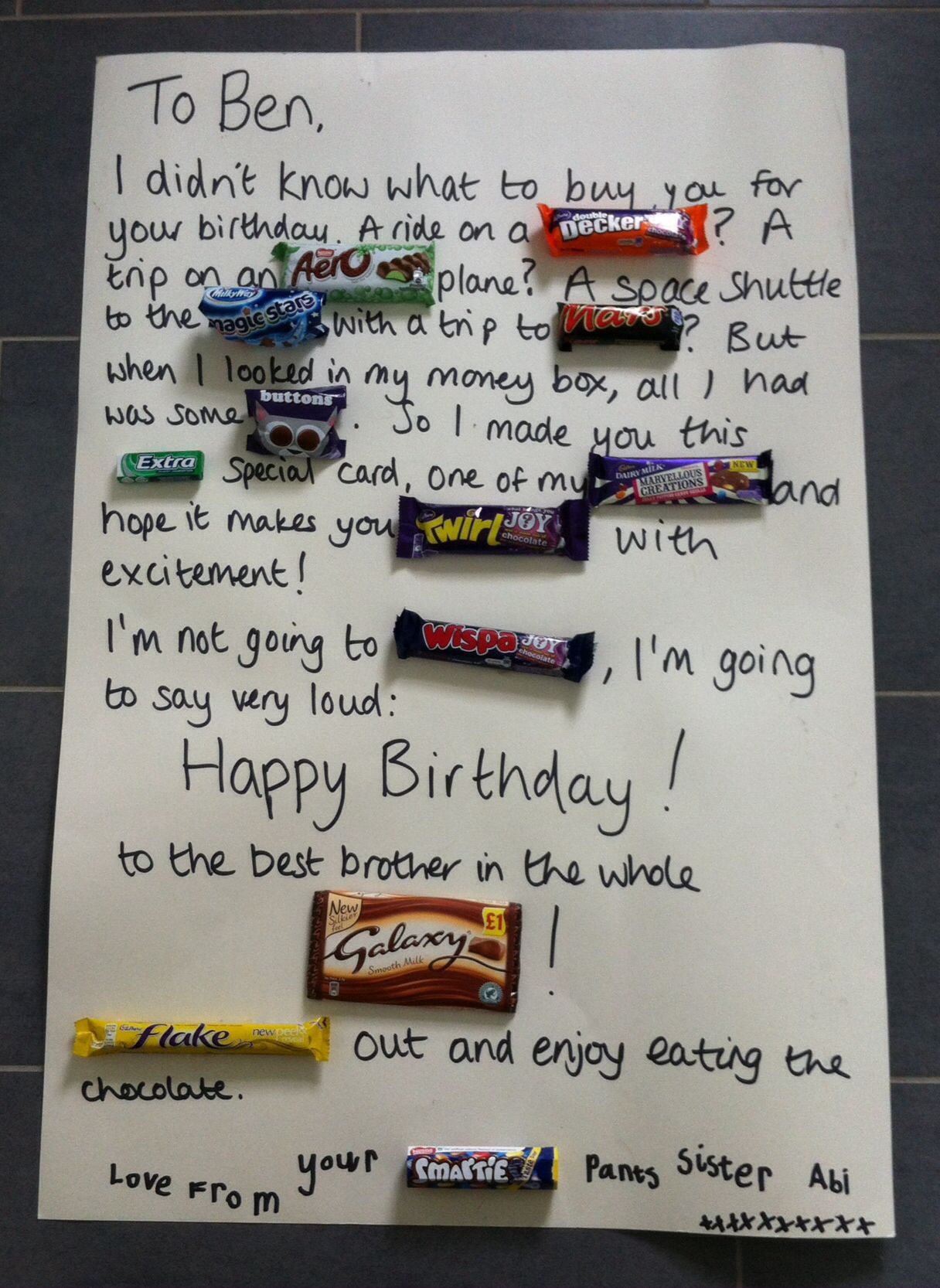 Chocolate Bar Birthday Card More