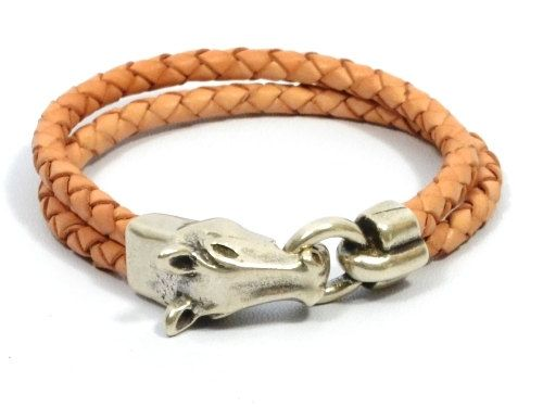horse bracelet horse jewelry mens braided leather equestrian