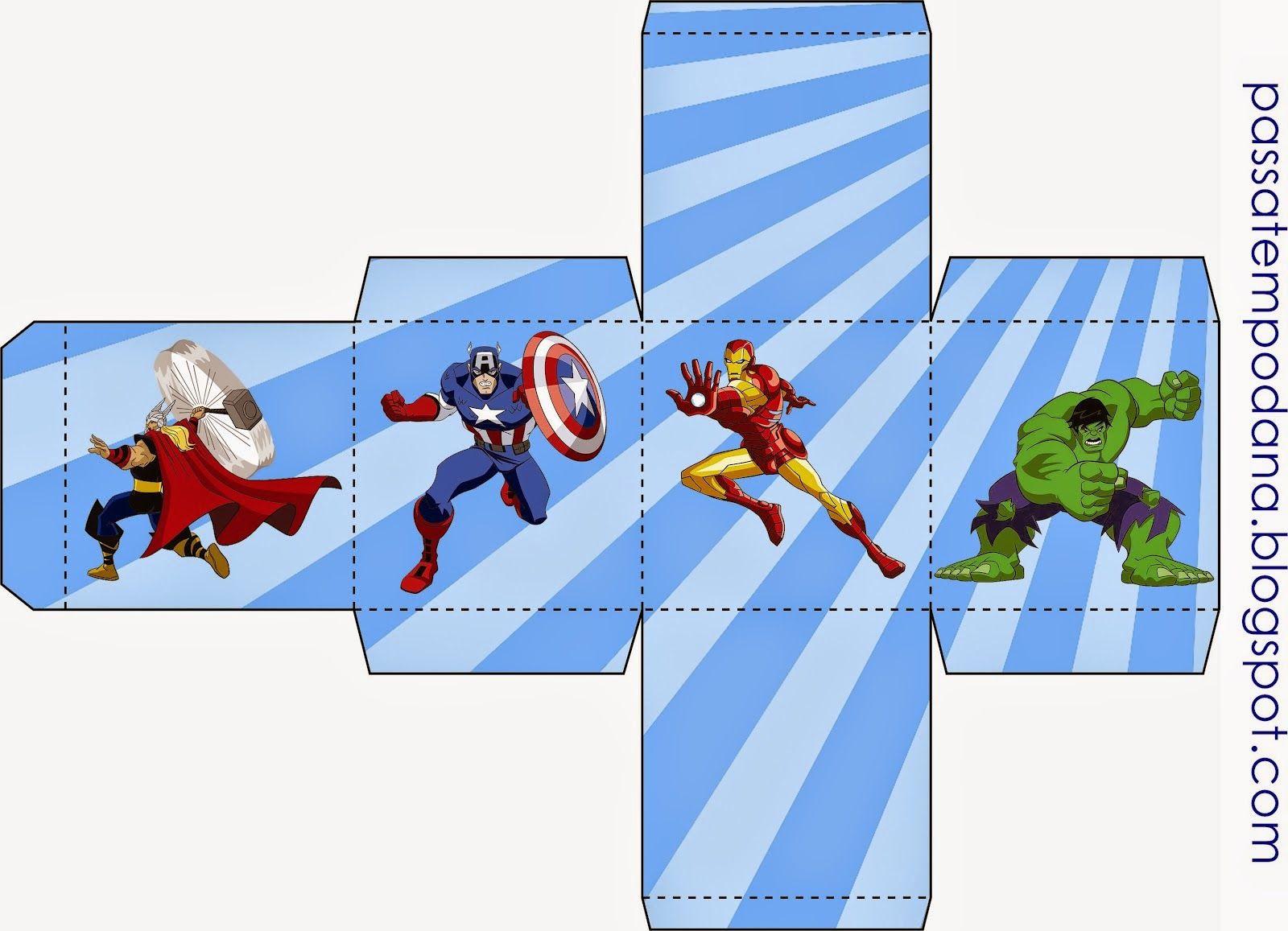 Cajas para Fiestas de los Vengadores para Imprimir Gratis. | iron ...