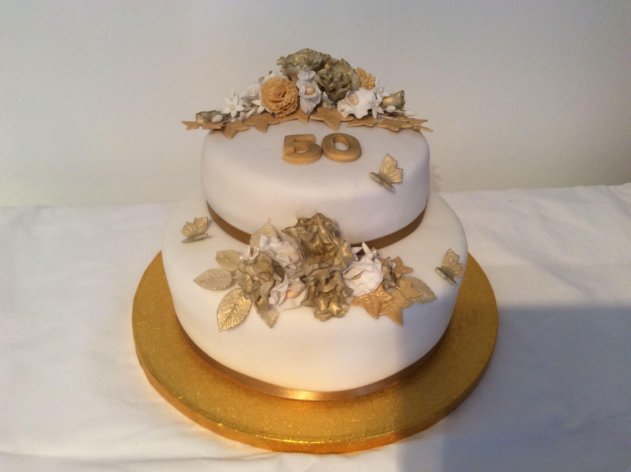 Mg golden wedding rose cake wedding anniversary cakes pinterest