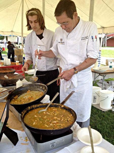 Chefs from The Thayer Hotel preparing chili at the Taste of New Paltz