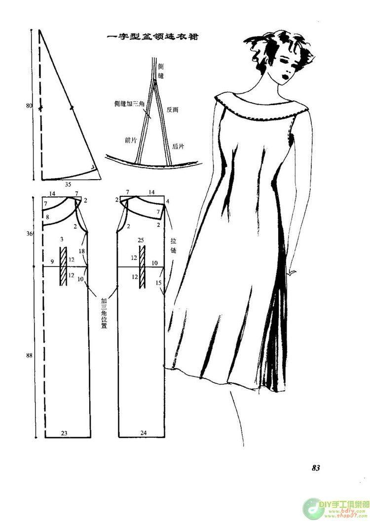 Vestido   aprende a coser   Pinterest   Vestiditos, Costura y Patrones