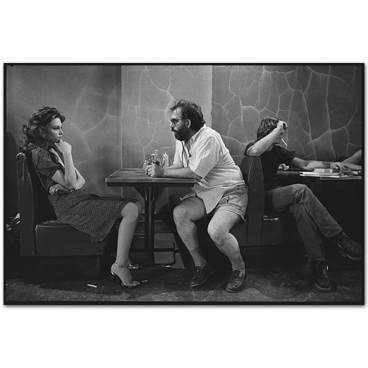 Mary Ellen Mark :: Diane Lane and Francis Ford Coppola discuss the next scene on the set of 'Rumble Fish', Tulsa, Oklahoma, 1982, from 'Seen Behind the Scene'