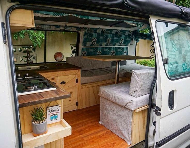 Cute Campervan Layout In 2020 Van Home Van Conversion Interior Van Life