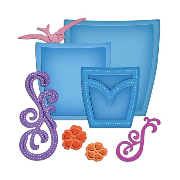 Spellbinders Shapeabilities Pockets and Swirls - CraftStore.pl