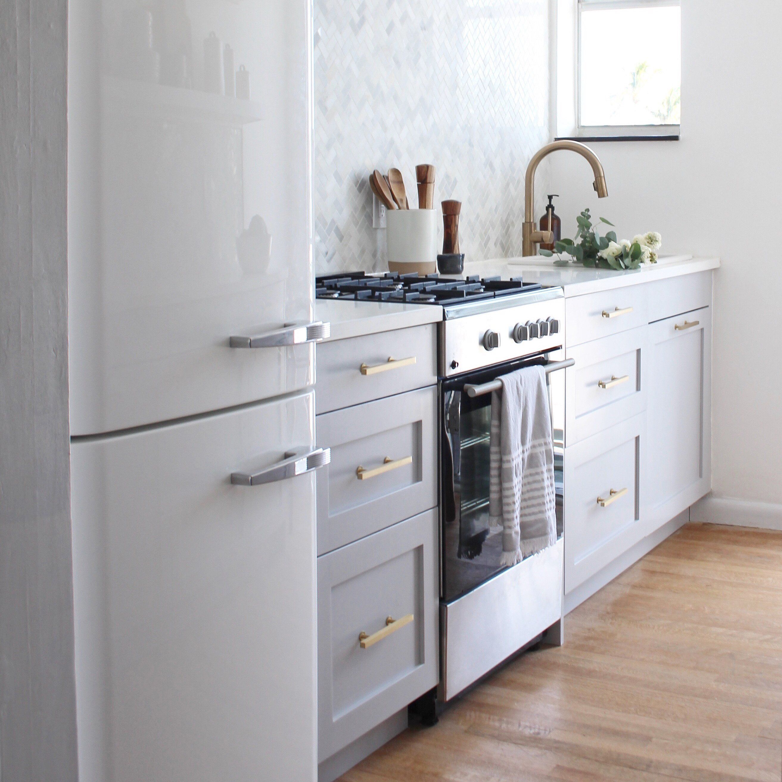 The Perfect Small Kitchen Transformation Kitchen Transformation Shaker Style Doors Tiny Kitchen