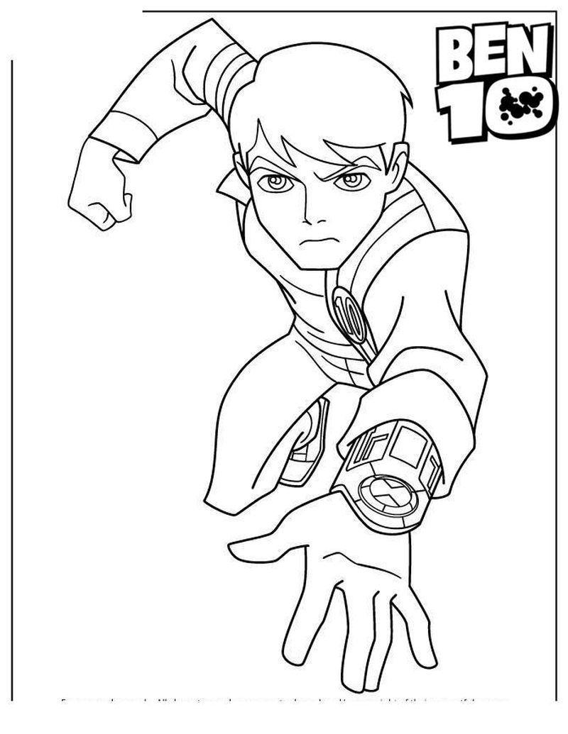 Ben 10 Alien Force Coloring Page