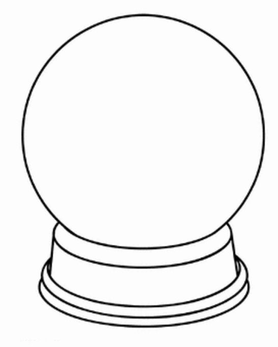 fox snow globe coloring pages - photo#23