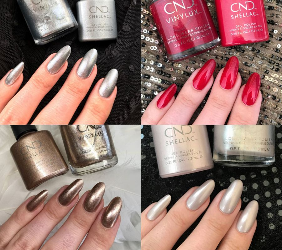 Christmas Nails Shellac: CND Shellac Night Moves Collection