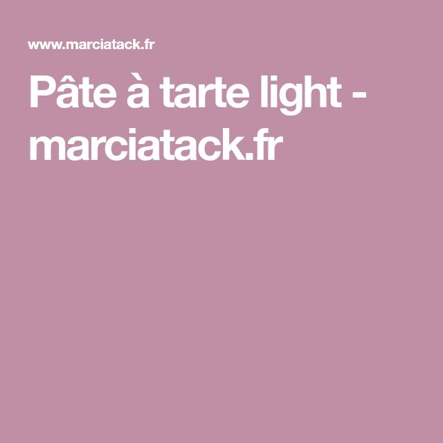Pâte à tarte light - marciatack.fr