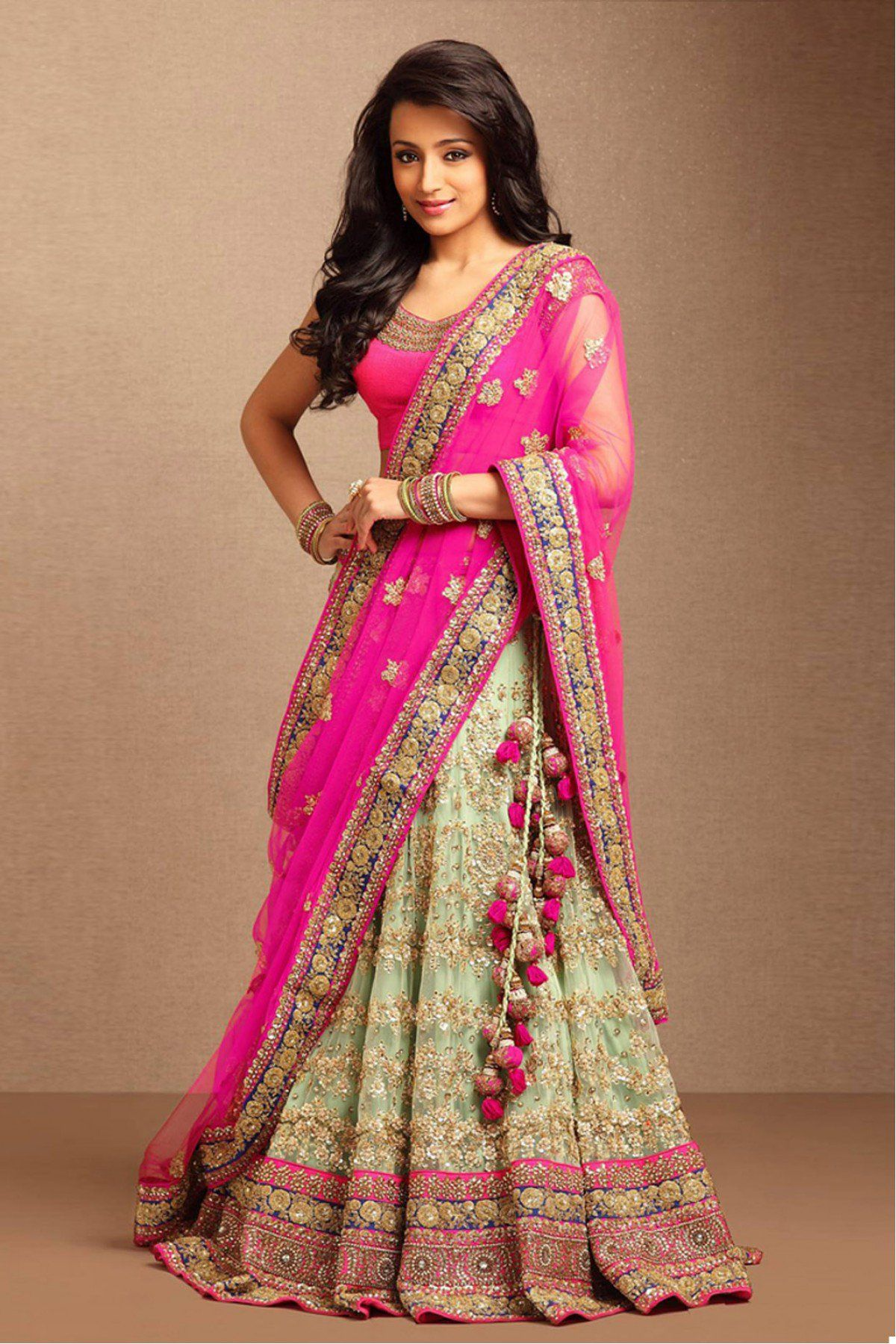 f856791322 Pink And Beige Colour Nylon Net Fabric Party Wear Lehenga Choli Comes with  matching blouse. This Lehenga Choli Is crafted with Embroidery,Lace Work  This ...