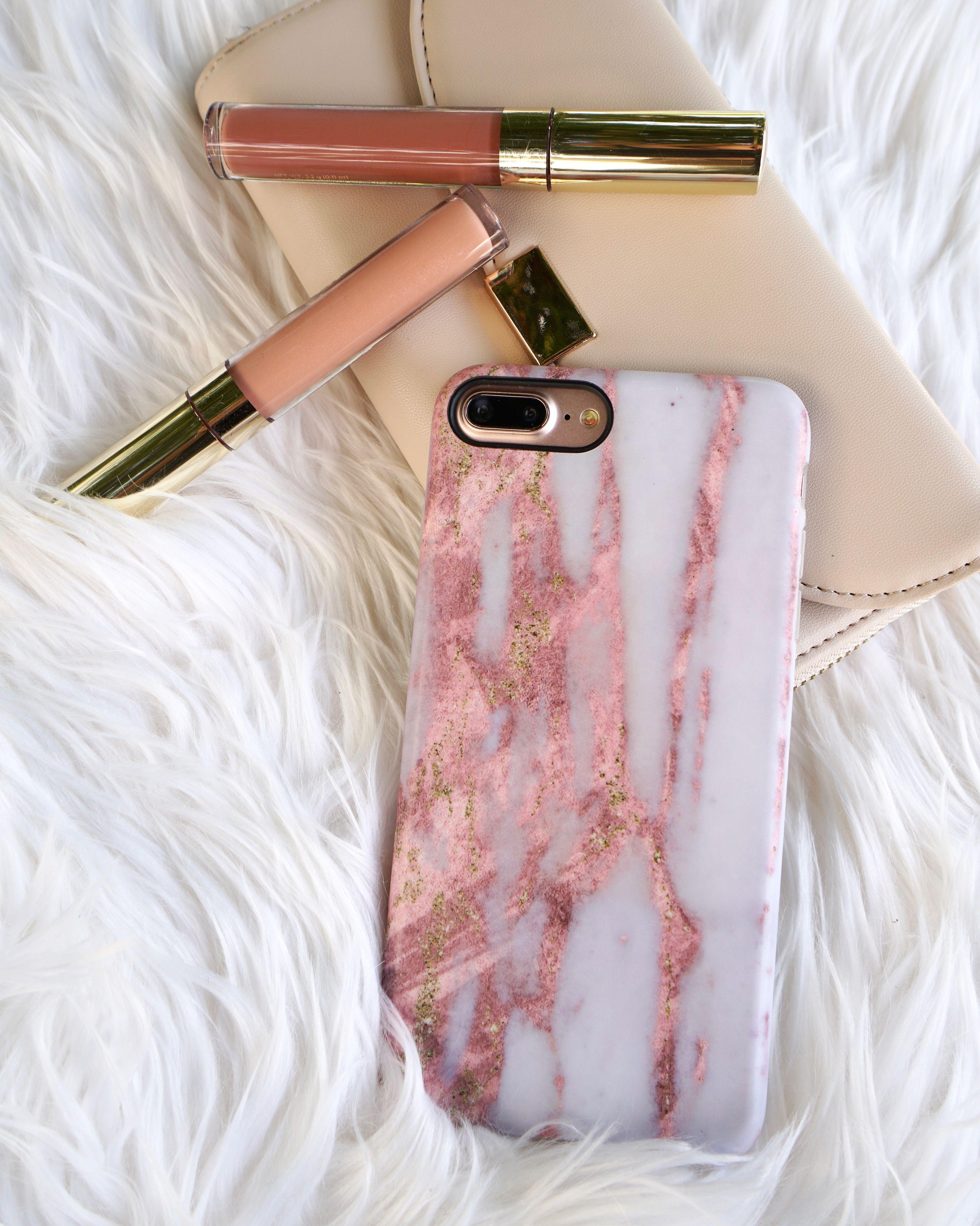 iphone 8 plus rose gold marble case