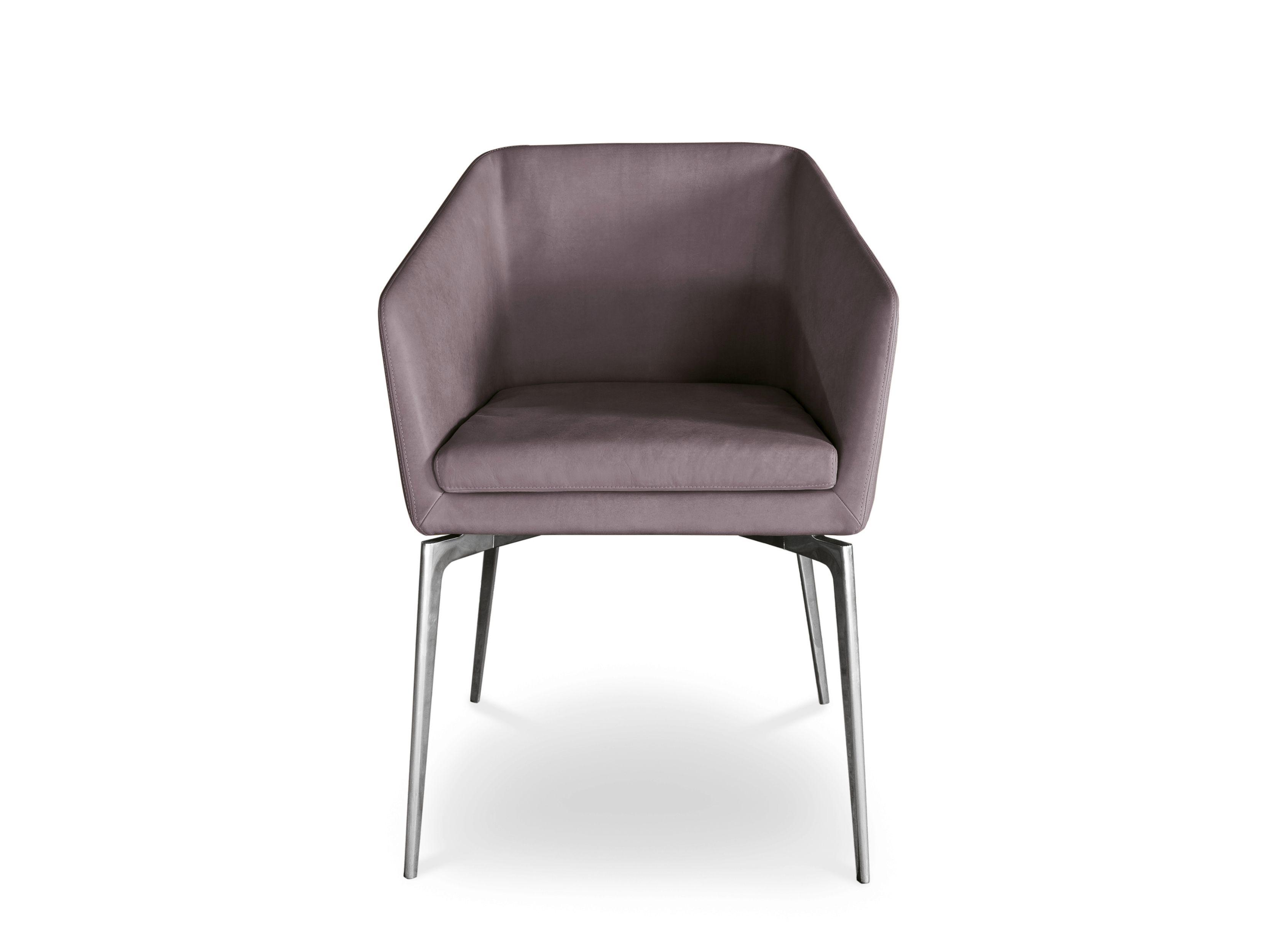 Sedie alivar ~ Upholstered leather easy chair with armrests denise by alivar