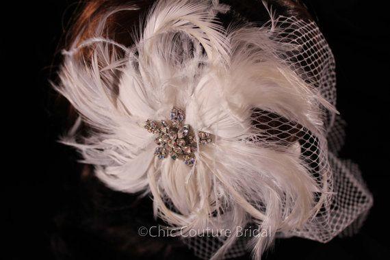 Birdcage Veil Vintage Bridal Accessories by ChicCoutureBridal