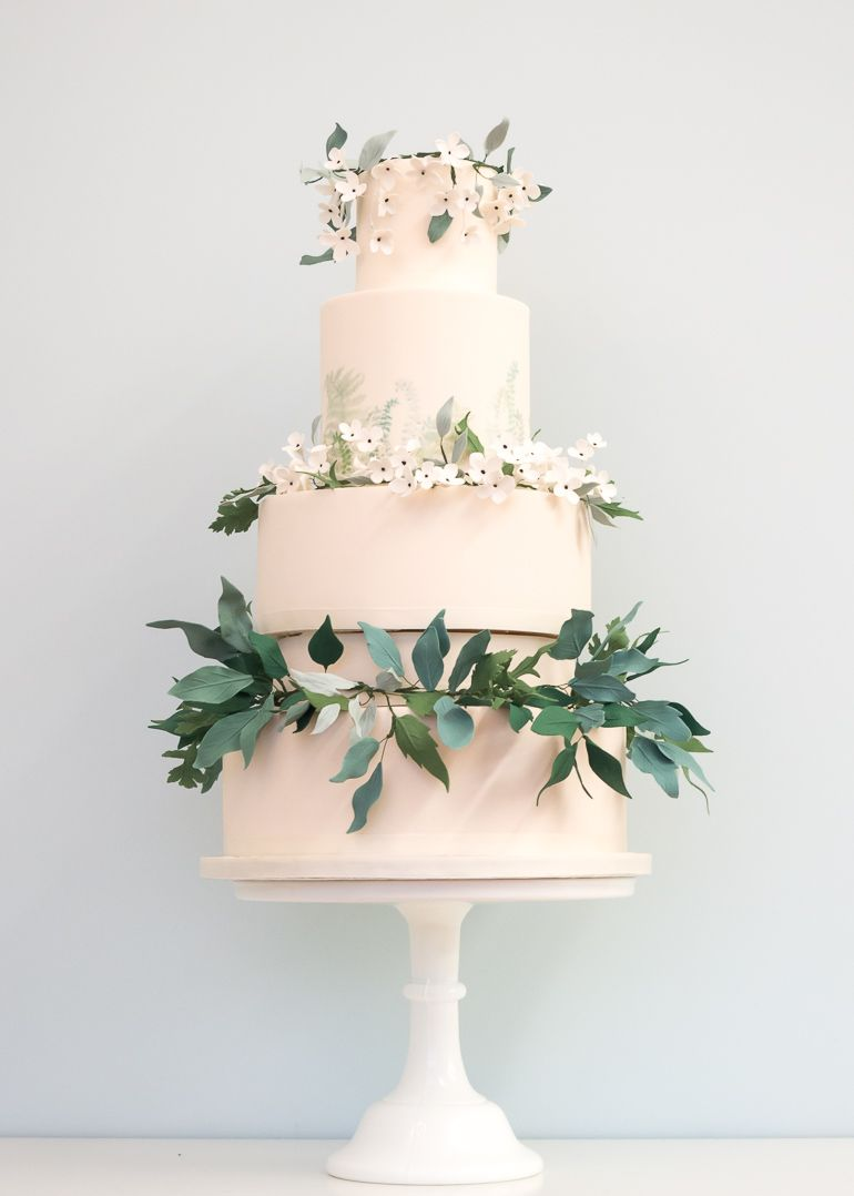 Rosalind Miller\'s Emerald Forest 5 tier wedding cake with ivory ...