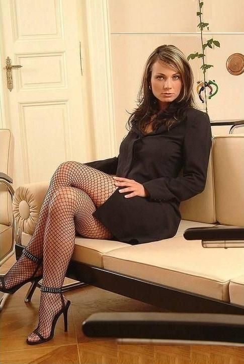 Cross Leg Black Stocking Pantyhose