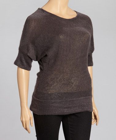 Take a look at this Charcoal Dolman Sweater - Plus by Matisse on #zulily today!