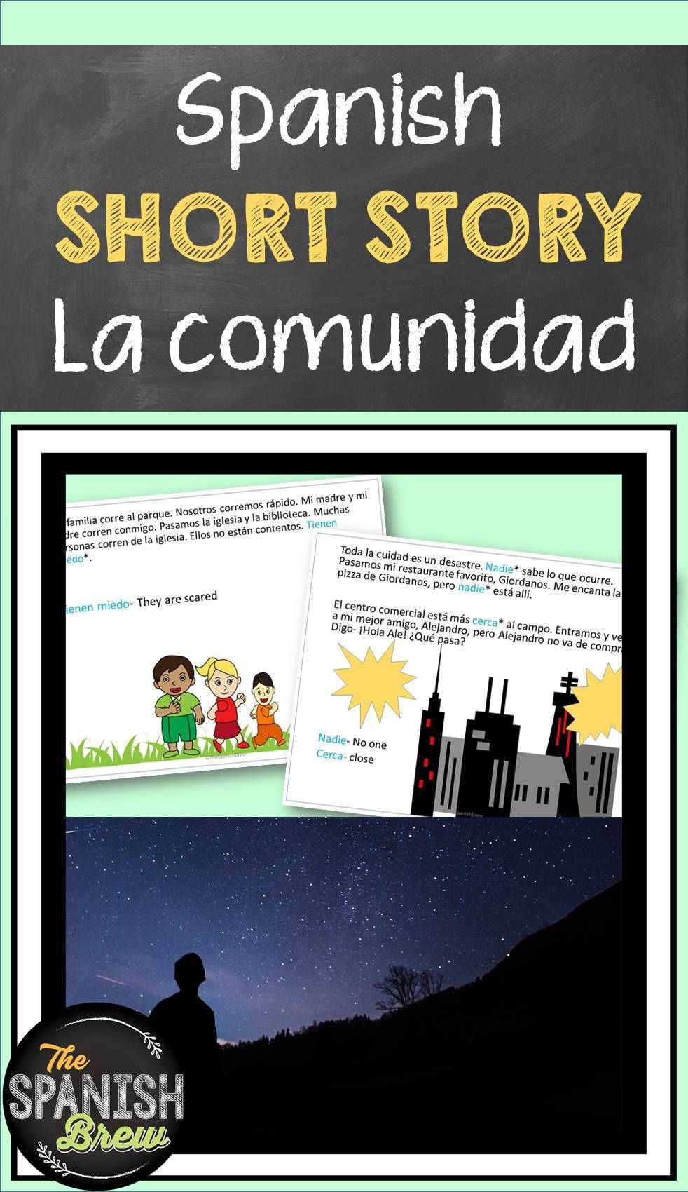 Tprs Spanish Short Story About The Community Using High Frequency Verbs Spanish Students Elementary Spanish Pre Reading Activities