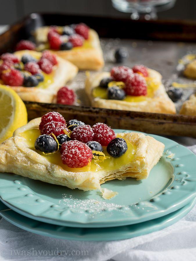 Lemon Berry Cheesecake Puff Pastries