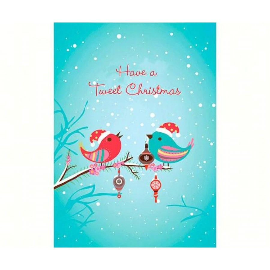 Tweet Boxed Christmas  These are beautiful and vibrant greeting cards with matching #ArtVelopes. All cards are made in the USA and are eco-friendly. Cards are offered in packs of 6. Inside: And a Happy New Year!