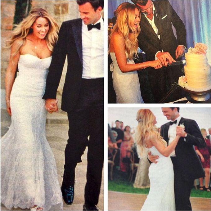 Monique Lhuillier Celebrity Wedding Dresses | Lauren conrad, Bodas ...