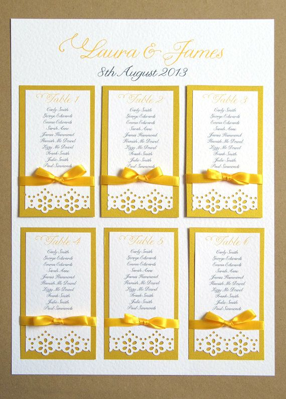 Daisy Lace Wedding Table Plan A  Craft Punch Www