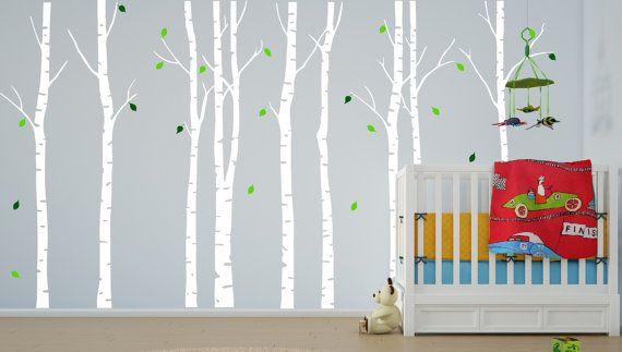 Birke Baum Wall Decal Kindergarten Wald von innovativestencils