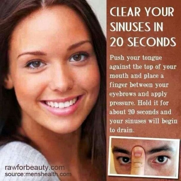 You Can Clear Your Sinuses In Under 30 Seconds With This Simple