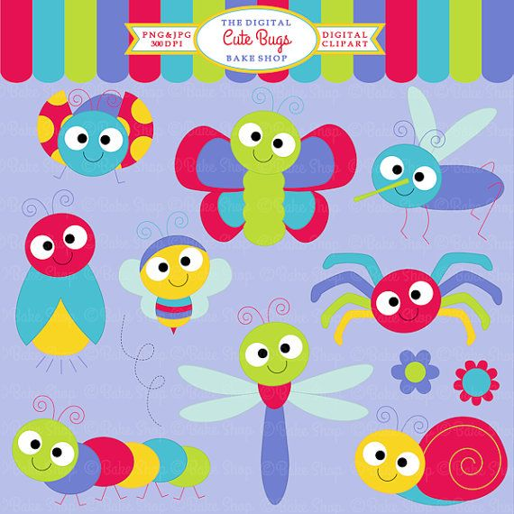 Bugs Clipart Insects Clip Art Ladybug Lady Bug By Digitalbakeshop 5 00 Art Drawings For Kids Bugs Clipart Clip Art