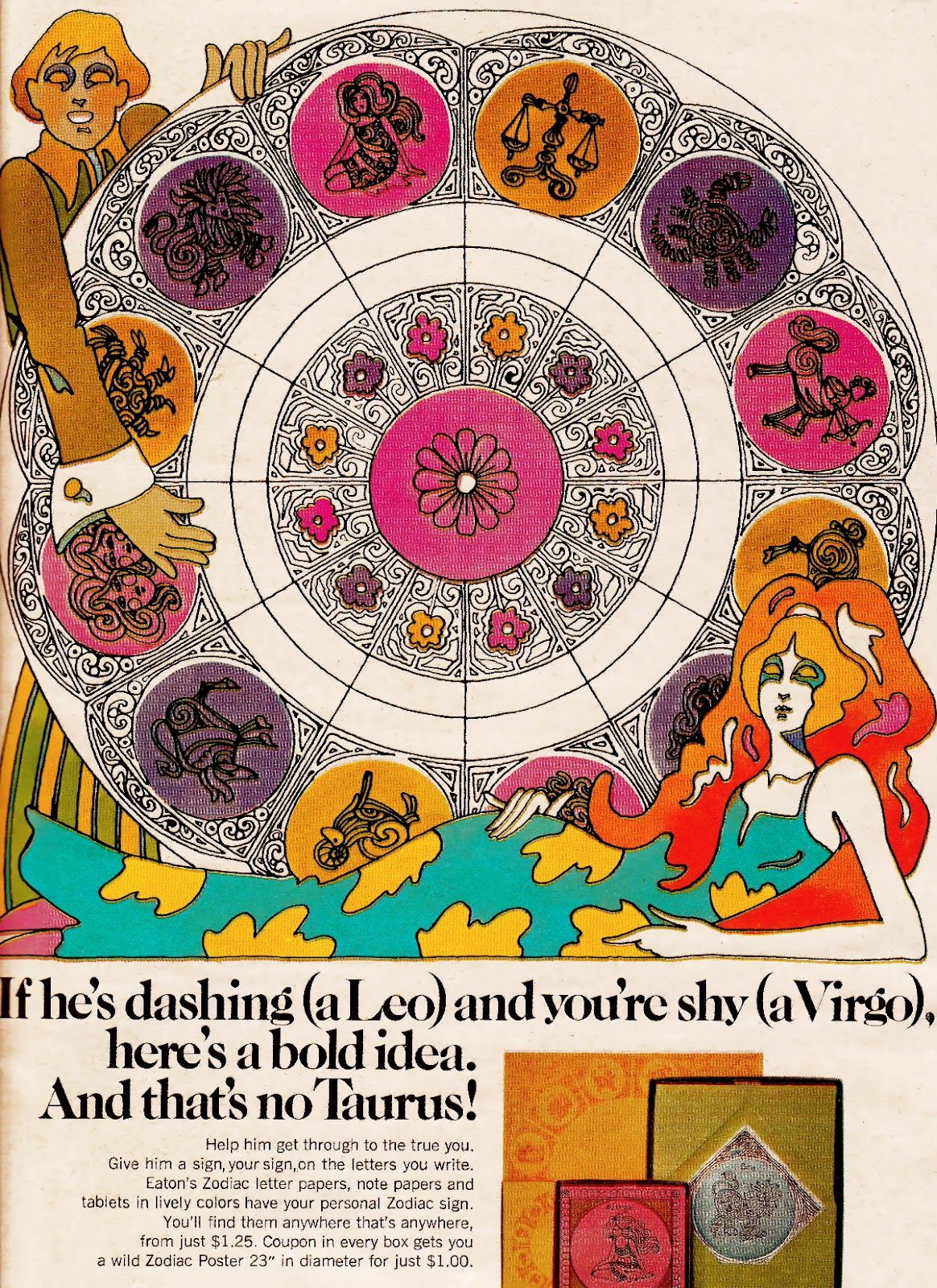 SWEET JANE: Vintage Ad: Psychedelic Zodiac 1970 The 70's ...