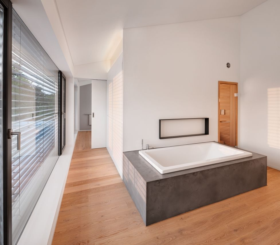Neubau WH M (2012) | Ideen | Pinterest | Saunas, Haus and Modern
