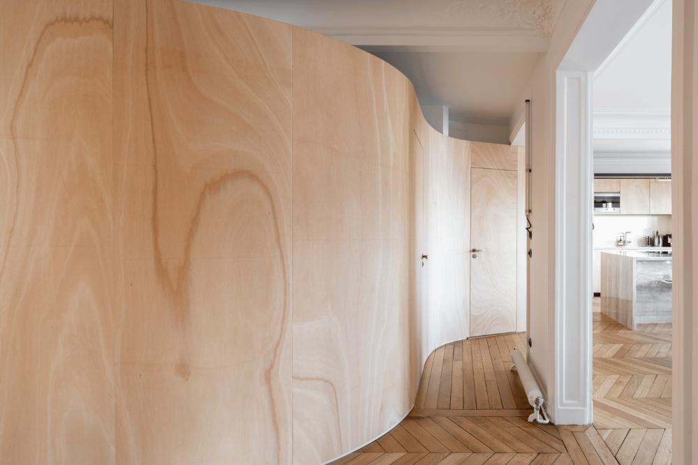 Gallery of Wood Ribbon Apartment / Toledano+Architects ...