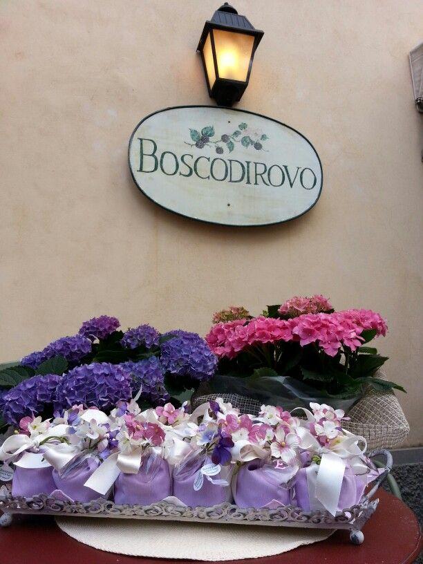 Ortensie e bomboniere. ..a Boscodirovo
