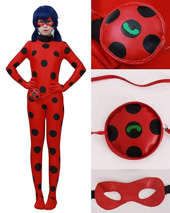 be0ecf530 Miccostumes Women s Lady bug Cosplay Jumpsuit (XL) 634934772537 eBay ...