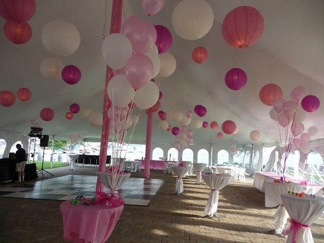 Our daughter sweet sixteen party at inn on the lake evento for Balloon decoration ideas for sweet 16
