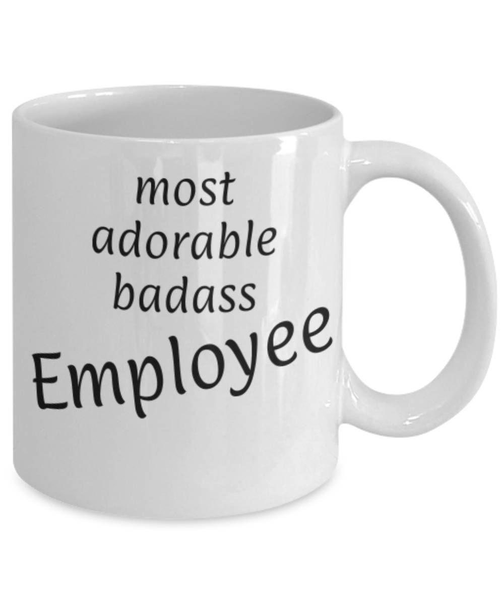 Adorable Badass Employee, Funny coffee mug, Christmas gift Employee ...