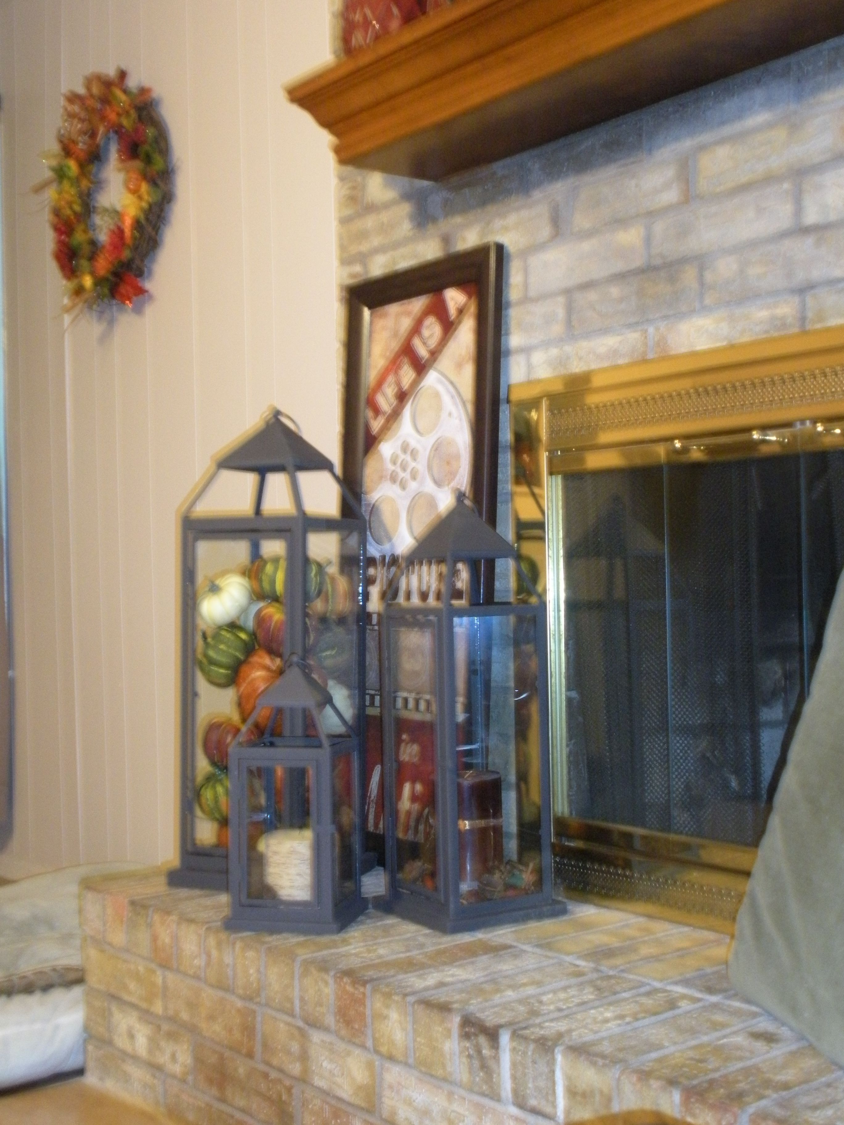 pier one fireplace decor on pier 1 lanterns i love these lanterns i also put mine by my fireplace with a candle that has a remote control also sold at pier fall decor lanterns fall fun fall decor lanterns