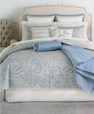 Martha Stewart Gemstone Paisley 21pc KING Comforter Set Beige Blue Champagne - EXCLUSIVE DEAL! BUY NOW ONLY $114.99