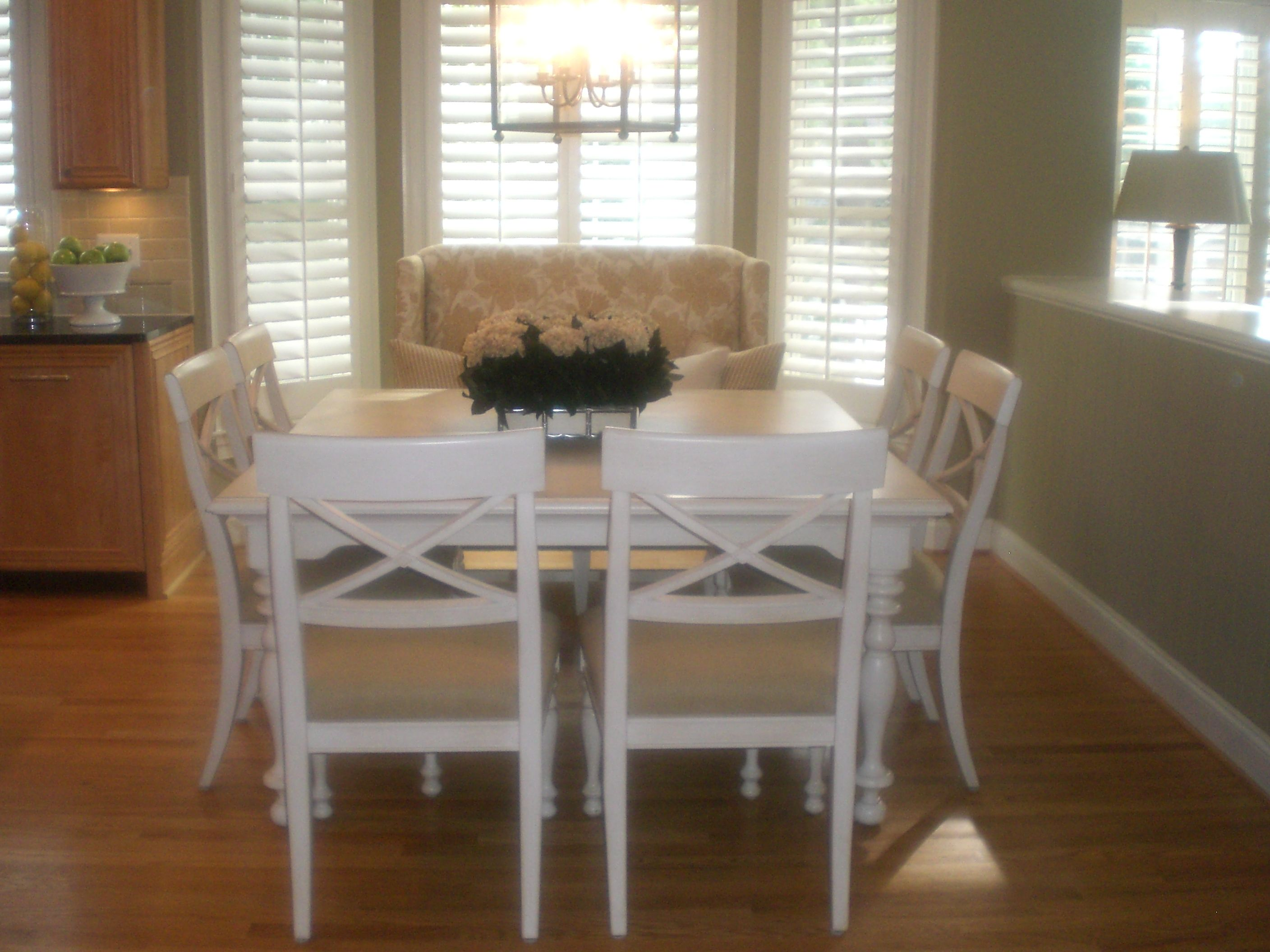 Kitchen Area In Virginiasquare Table And Settee  Kristin Mesmerizing Dining Room Table With Settee Decorating Design