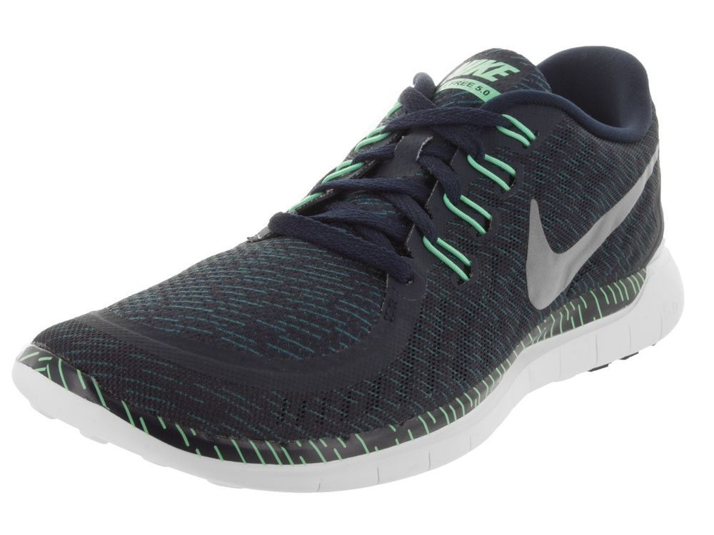 44858298839ac ... discount code for nike free 5.0 print mens running shoes obsidian  silver green glow 749592 403