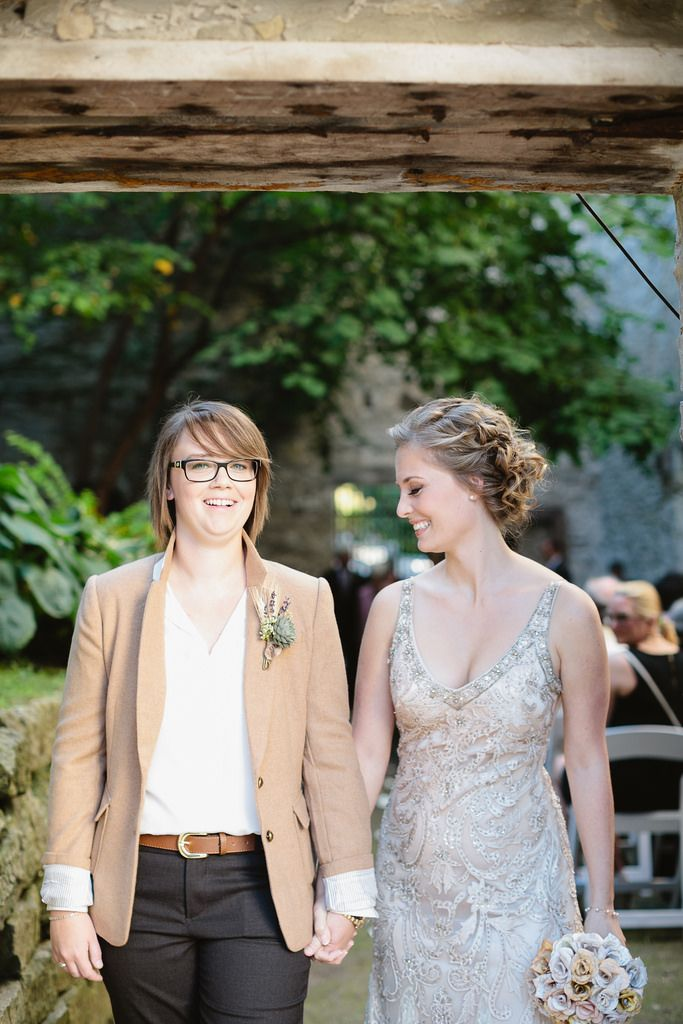 Amy & Kim\'s wedding glows with lights, crafts, and love | Lesbian ...
