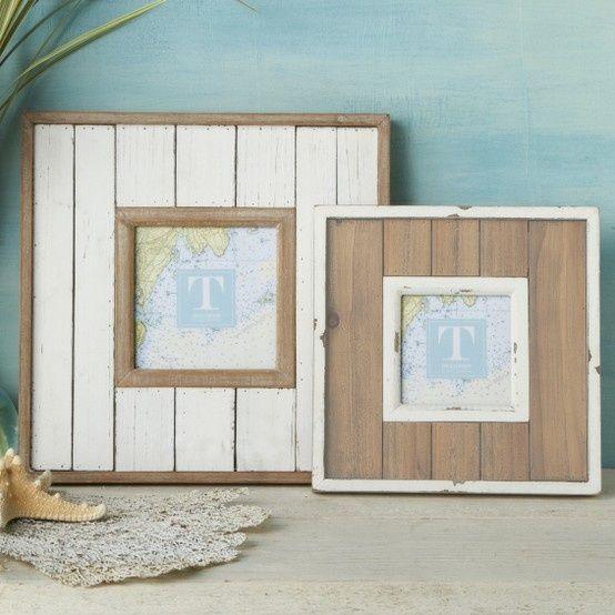 Idee per cornici fai da te homemade shabby chic decor for Portaritratti legno