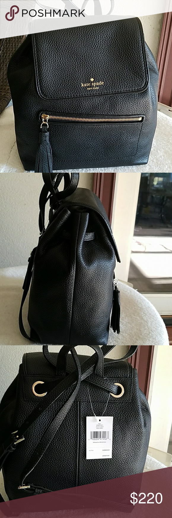 Nwt Kate spade Chester street black backpack purse Nwt Kate spade Chester  street black backpack purse 377bf1c7c7541