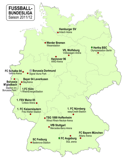 Map Of Germany Hoffenheim.Bundesliga Fussball German Football League Association Football