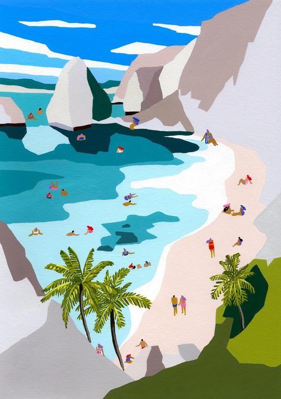 Summer - Art print of original painting by Helo Bi