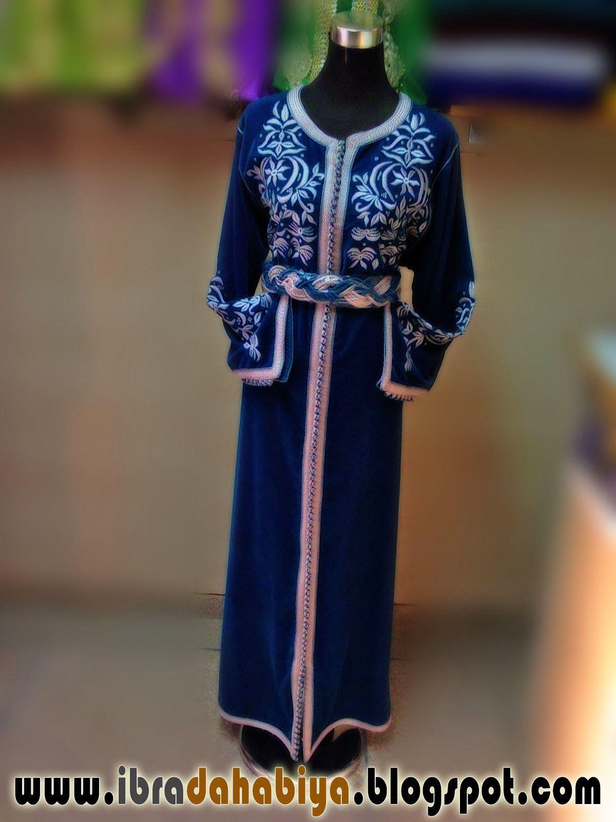 9 قفطان مخدوم بالفضي يترجم معنى الارتقاء Moroccan Caftan Long Sleeve Dress Fashion