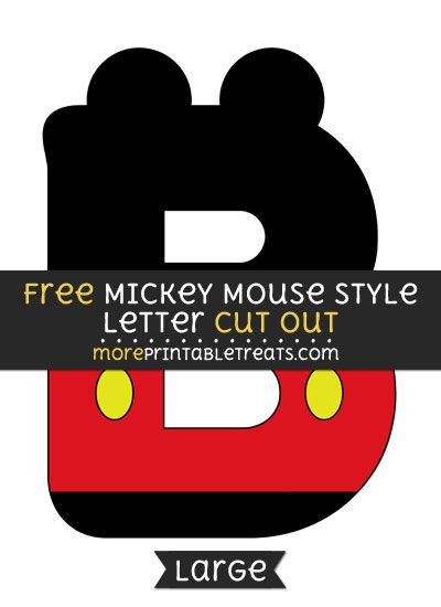 Free Mickey Mouse Style Letter B Cut Out