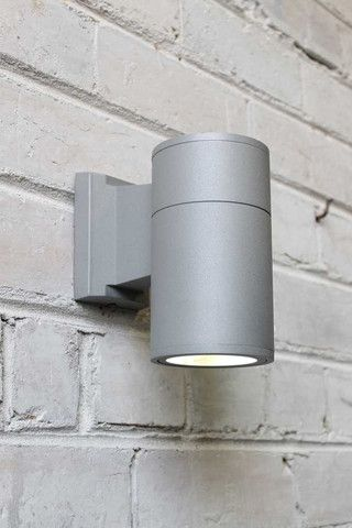 Outdoor cylinder wall light in grey light me up pinterest outdoor wall lighting for home exteriors apartment illumination and outdoor entertaining areas use led bulb or halogen globes online lighting australia aloadofball Gallery